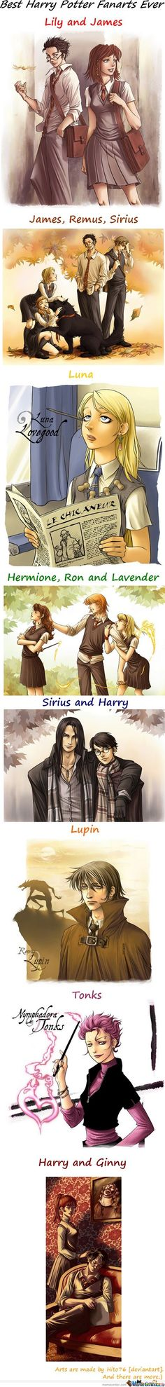 Harry Potter fanarts by Hito76 (deviantart)