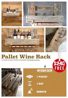 Diy Tutorial: Pallet Wine Rack