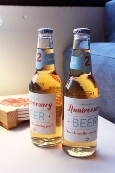 Personalized Custom-Made Anniversary Beer Labels by LoveIsFun365