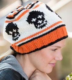 9ce6dd81511 Free Knitting Pattern for Skull Slouchy Beanie Knit Flat Loom Knitting  Projects, Knitting Ideas,