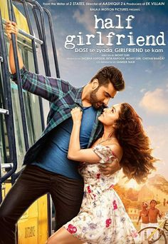 Shraddha Kapoor and Arjun Kapoor's Half Girlfriend is all set to release in 1600 screens, which is quite a decent number for a romantic drama. - Shraddha Kapoor and Arjun Kapoor starrer Half Girlfriend to release in 1600 screens Hindi Bollywood Movies, Bollywood Posters, Hindi Movies, Download Free Movies Online, Movie Downloads, Mp3 Song Download, Half Girlfriend Movie Online, Arjun Kapoor