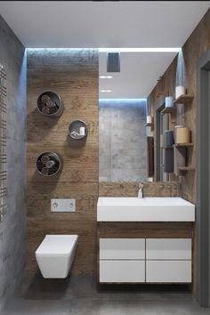 Дизайн интерьера квартиры, однокомнатная квартира #loft #apartment #design #bath #дизайн_квартиры #ванная