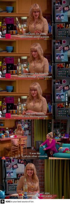 Bernadette's fantasies. This is why I love Bernadette. That little tyrant streak. And she's so tiny and cute! Big Bang Theory.