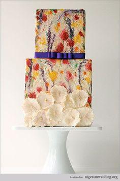 Stunning hand painted wedding cake ideas...