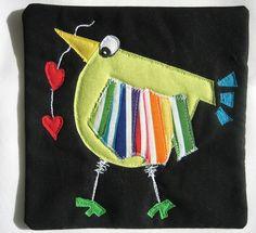 Wonky #1 Bird Mug Rug | by mamacjt