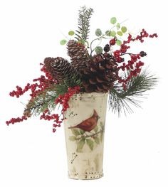 Prairie Gardens & Jeffrey Alans offer an extraordinary shopping experience with a unique mix of home, garden and seasonal décor. Christmas Greenery, Christmas Arrangements, Christmas Centerpieces, Flower Arrangements, Christmas Decorations, Christmas 2016, Xmas, Christmas Floral Designs, Holiday Ideas