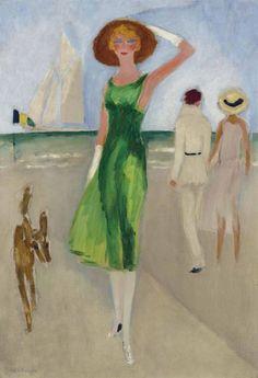 Kees van Dongen, (1877-1968), ca. 1930,  L'élégante au chapeau, Oil on canvas, 73.9 x 50.3 cm. on ArtStack #kees-van-dongen #art