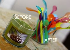 How-To: Remove Candle Wax from Glass Containers #wax #candles