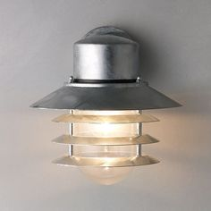 Buy Nordlux Vejers Outdoor Wall Light, Galvanised Steel online at JohnLewis.com - John Lewis