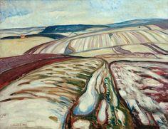 Edvard Munch: Schneeschmelze bei Elgersburg