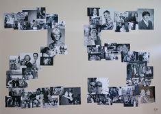 Die letzten 25 Jahr an einer Wand - Silberhochzeit - Dekoration