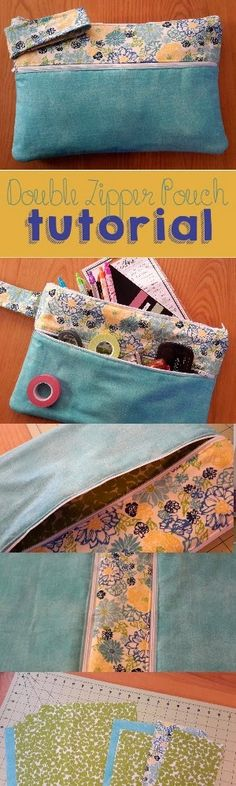 Life In Our Nomad: Double Zipper Pouch Tutorial