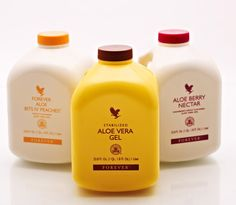 Forever Aloe Vera Gel and two flavours Bits n' Peaches and Berry Nectar. http://myflpbiz.com/esuite/home/foreverlivingorlandofl/