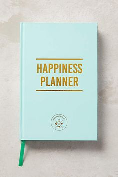 The Happiness 100-Day Planner :: The Happiness Planner focuses on positive thinking and personal progress, with 100 open-dated pages and spaces for reflection and goal-setting.