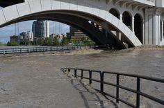 June 21, 2013 Centre street bridge is under water, Calgary