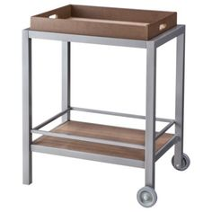 Threshold Faux Wood Outdoor Bar Cart from Target.  The Creativity Exchange