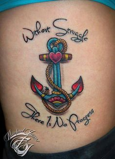 Anchor tattoo....minus the wording