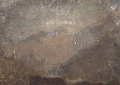 Joseph Mallord William Turner, 'Mountainous Landscape' ~1828 Oil paint on muslin mounted on millboard