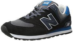 New Balance Men's ML574 Core Plus Fashion Sneakers, Black/Grey, 15 2E US - http://all-shoes-online.com/new-balance/15-2e-us-new-balance-mens-574-core-plus-fashion