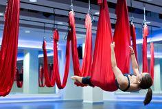Antigravity yoga at Virgin Active Aldersgate
