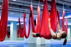 Antigravity yoga at Aldersgate