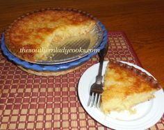 PINEAPPLE CHESS PIE-This pie is delicious!