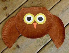 Animal Crafts for Fall: Owl Crafts - Kids Crafts, Paper Crafts Kids Crafts, Fall Crafts For Kids, Toddler Crafts, Crafts To Do, Preschool Crafts, Art For Kids, Craft Projects, Craft Ideas, Autumn Crafts