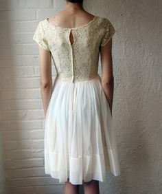 it's always been my secret hope to find a wedding dress at a thrift store. this vintage dress is gorgeous. getaway dress?