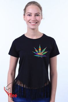 Marijuana Leaf Pocket Weed Legalize It Stoner Crop Top by LinkTee