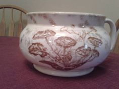 vintage china chamber pot