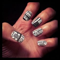 tribal nails!! | Expensive Nails #nail Art