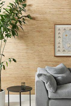 Wallpaper | Anthropologie Unique Wallpaper, Textured Wallpaper, Wall Wallpaper, Textured Walls, Wallpaper Feature Walls, Grass Cloth Wallpaper, Wallpaper Grasscloth, Bedroom Wallpaper Accent Wall, Linen Wallpaper