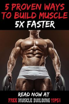 How to build muscle faster. Build muscle with these 5 proven methods to get faster results increasing muscle and strength. How to build muscle faster. Build muscle with these 5 proven methods to get faster results increasing muscle and strength. Polymetric Workout, Biceps Workout, Gym Workouts, Best Muscle Building Workout, Muscle Building Workouts, Workout Plan For Men, Workout Plan For Beginners, Fitness Gadgets, Fitness Tips