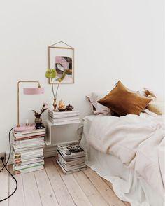 my scandinavian home: Where Raw and Refined Meet In The Middle – Danish Style – Toptrendpin Bedroom Nook, Bedroom Decor, Mustard Yellow Bedrooms, Interior Exterior, Interior Design, Nordic Bedroom, Turbulence Deco, Danish Style, Scandinavian Home