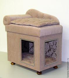 Аксессуары для собак, ручной работы. Домик для собак или кошек. Мастерская 'Мебель для животных'. Интернет-магазин Ярмарка Мастеров. кожа
