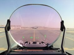 Eurofighter Typhoon HUD visual with an F-16 in sight.