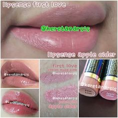 Perbandingan lipsense First Love & Apple Cider