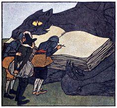The Devil and his Grandmother. Albert Weisgerber, from Kinder und Hausmärchen…