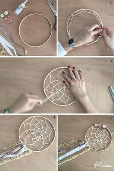 hacer un atrapasueños Aprende a hacer un atrapasueños perfecto para decorar boda o para regalar.Aprende a hacer un atrapasueños perfecto para decorar boda o para regalar. Diy And Crafts, Crafts For Kids, Arts And Crafts, Diy Dream Catcher Tutorial, Dream Catcher Craft, Making Dream Catchers, Dream Catcher Boho, Craft Projects, Projects To Try