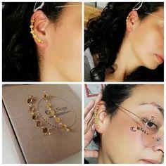 Earcuff acero dorado o plateado y cristales. Simplemente hermoso!😍 $25.000 no incluye envío. Earrings, Jewelry, Fashion, Steel, Crystals, Women, Jewellery Making, Moda, Stud Earrings