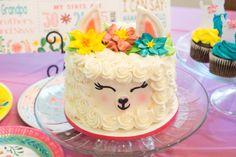 Smash cake for birthday party. Llama Birthday, Birthday Treats, First Birthday Cakes, Birthday Cake Girls, 11th Birthday, Smash Cake Girl, Girl Cakes, Party Cakes, Cupcake Cakes