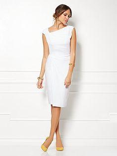 Eva Mendes Collection - Drape Dress - Solid - New York & Company