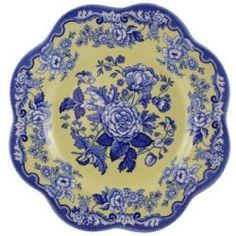 blue & yellow Spode plate
