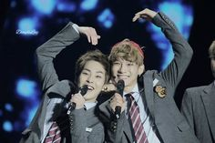 Xiumin and Chen ! Exo Facts, Xiuchen, Kim Jongdae, Dimples, Eye Candy, Concert, Kai, Drama, Wattpad