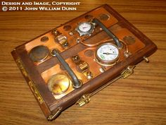 "Steampunk wooden case with lid for the Barnes & Noble Nook Color (R):  ""eCog Aphrodite (TM)"" 'Boilerplate' Edition. $260.00, via Etsy."