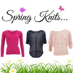 SPRING KNITS!  Kick stark the new season with lightweight knits, perfect for layering over a vest top or under a jacket  https://www.justblue.com/knitwear.php
