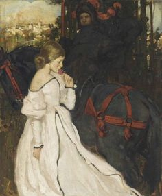 Chivalric love.   Oil on canvas. by William Dacres Adams.(1864-1951).  songesoleil