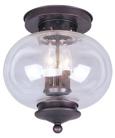 Livex Lighting 5033 Harbor 11 Inch Semi Flush Mount| Capitol Lighting…