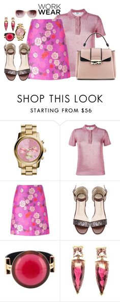"""Workwear"" by hani-bgd ❤ liked on Polyvore featuring MICHAEL Michael Kors, MSGM, Etro, Marni, Tory Burch and WorkWear"
