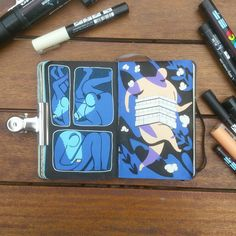 Thomas D'Addario likes to fill up his moleskines with trippy doodles using posca pens!